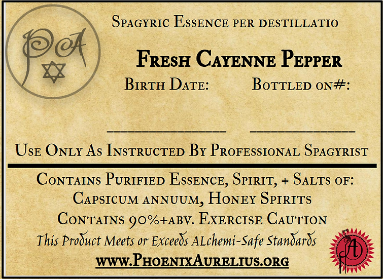 Fresh Cayenne Pepper Spagyric Essence