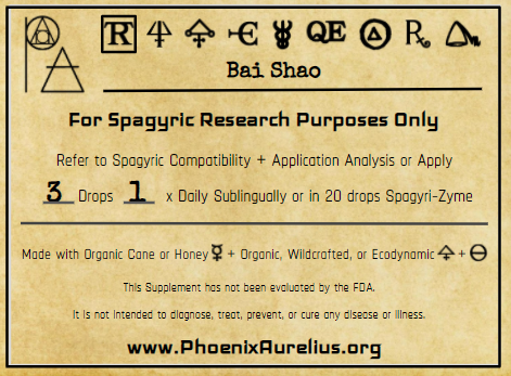 Bai Shao Spagyric Tincture