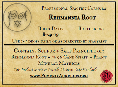 Rehmannia Root Spagyric Tincture