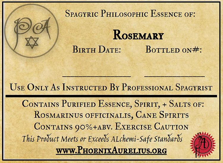 Rosemary Spagyric Essence per Fermintatio