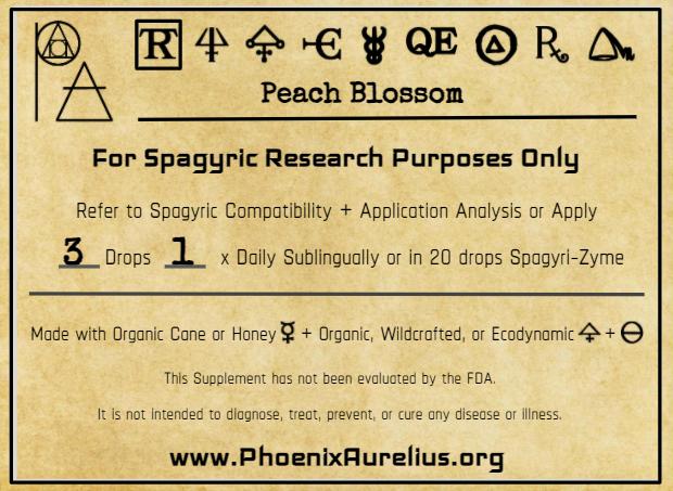 Peach Blossom Spagyric Tincture