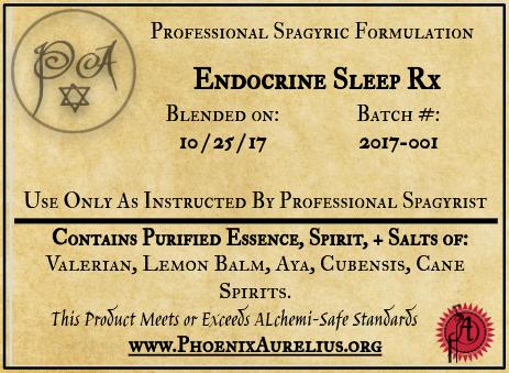 Endocrine Sleep Spagyric Formulation
