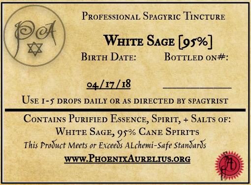 Fresh White Sage Spagyric Tincture