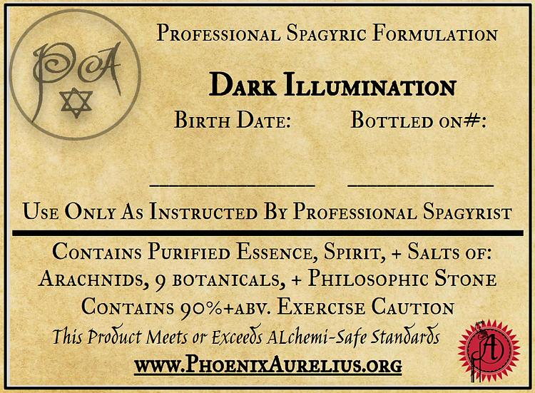 Dark Illumination Spagyric Formulation