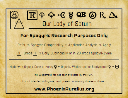 Our Lady of Saturn Spagyric Tincture