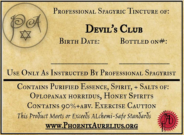 Devils Club Spagyric Tincture