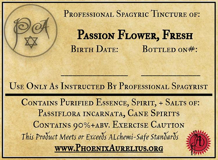 Fresh Passion Flower Spagyric Tincture