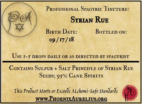 Syrian Rue Spagyric Tincture
