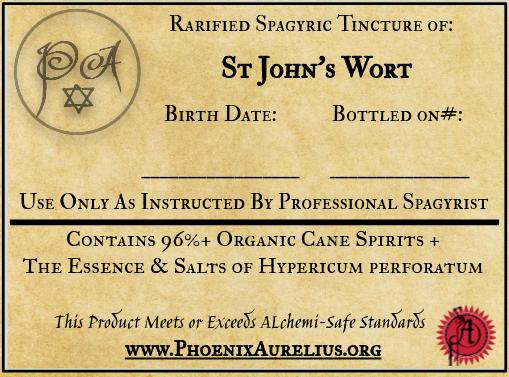 St John's Wort Rarified Spagyric Tincture
