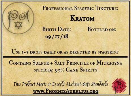 Kratom Spagyric Tincture