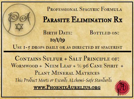Parasite Elimination Rx Spagyric Formula
