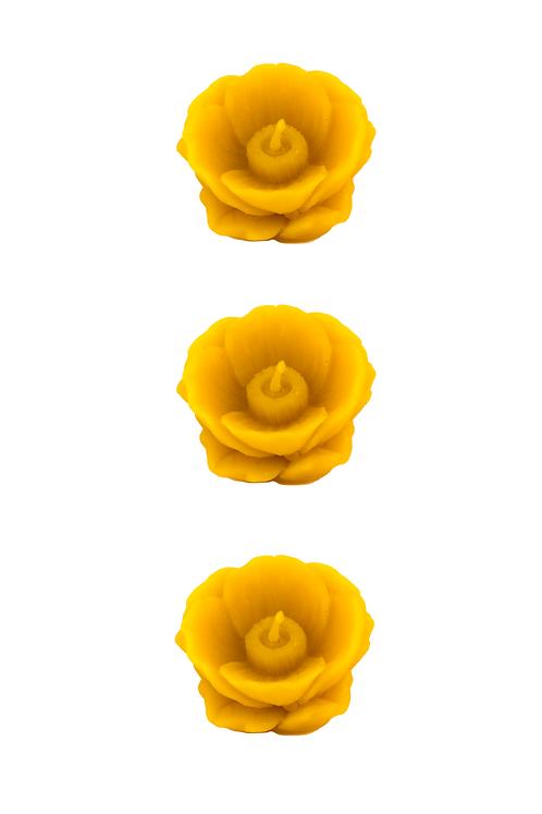Coquelicot - 3 bougies flottantes
