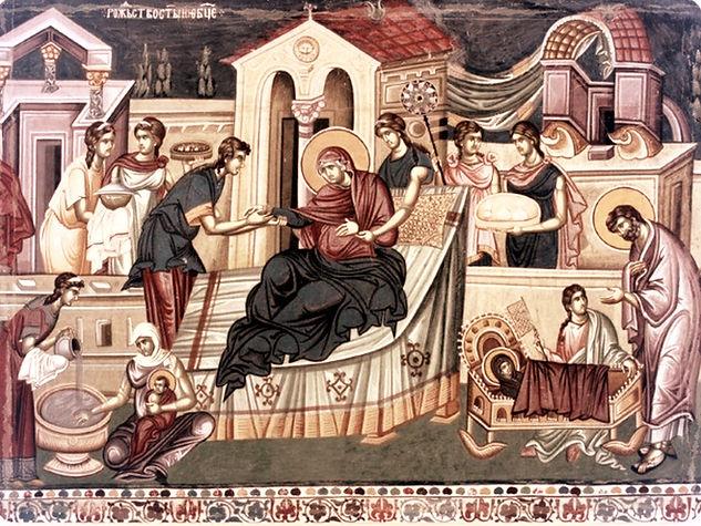 Icone de la Nativité de la Mère de Dieu