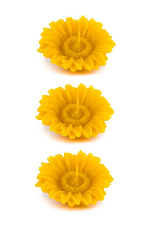 Tournesol - 3 bougies flottantes