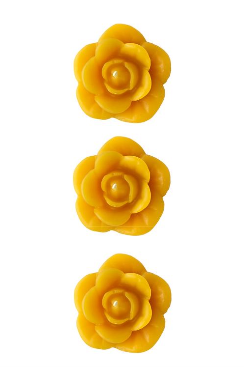 Rose - 3 Bougies flottantes