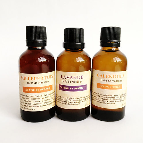 Trio huiles massage - recharge