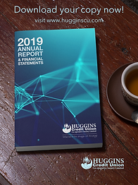 Huggins mockup of AGM 2019 brochure on a