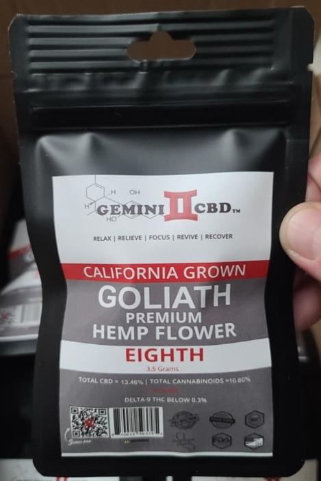 GOLIATH PREMIUM HEMP FLOWER - EIGHTH (3.5g)
