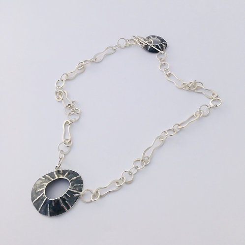 Oxidised Single Limpet Necklace