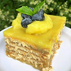 Lemon Curd & White Sweet Potato Cake