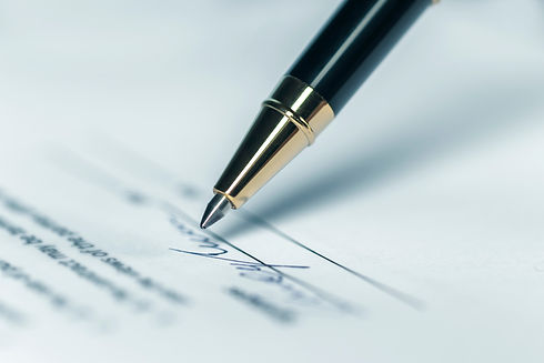 Pen, Writing Letter or Contract Signatur