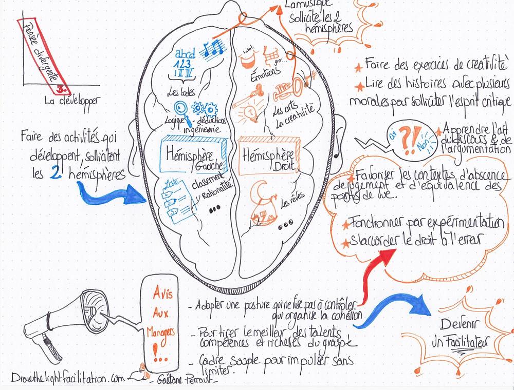 Développer sa pensée divergente - DrawthelightFacilitation - Gaëtane Perrault-