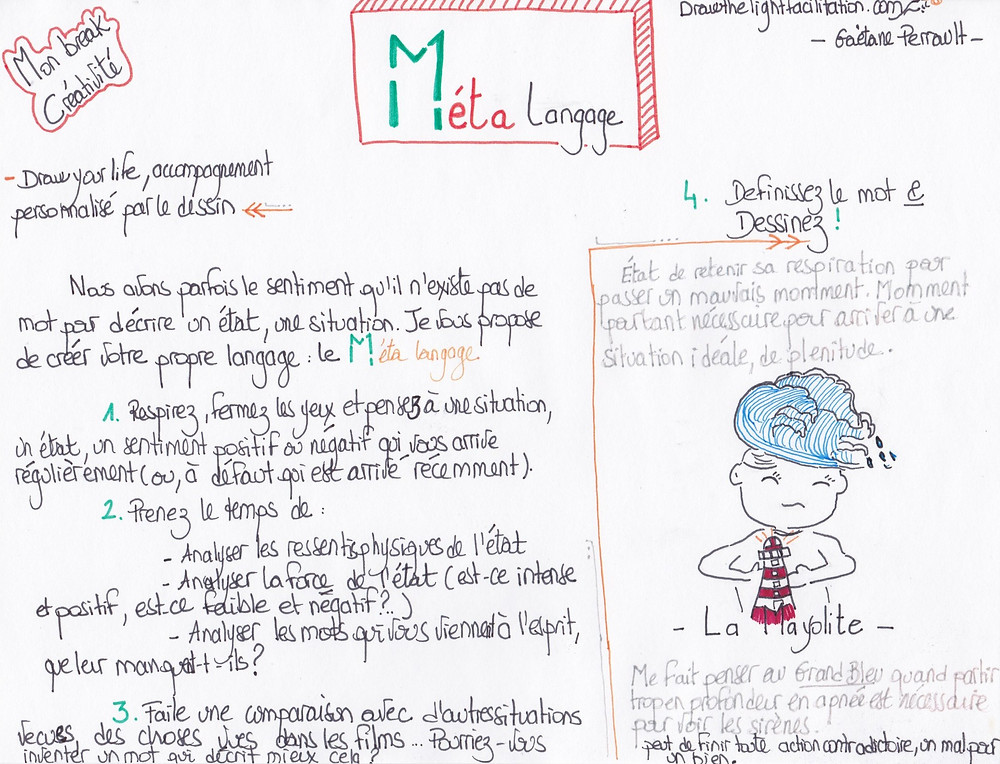 utilise lors des boost créativité des programmes de suivi personnalisé par le dessin *