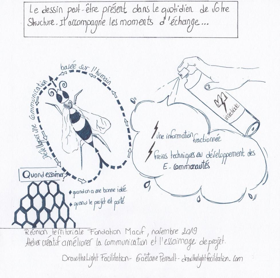 L'accompagnement par le dessin-synthètiser des processus- Drawthelight Facilitation