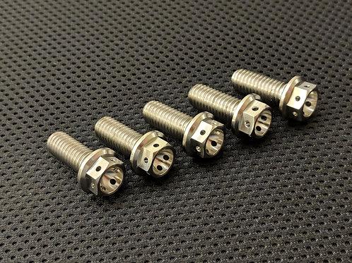 Aprilia RSV4R Factory Titanium Drilled Rear Disc Bolts 09-16