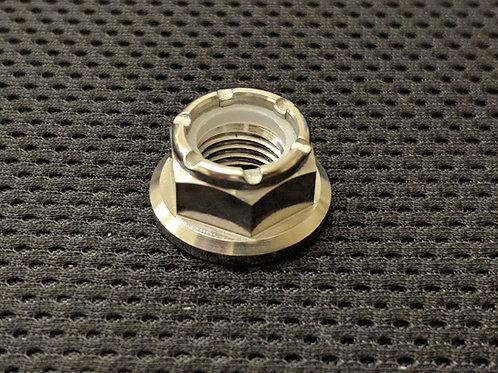 M10-1.25p Titanium Nyloc Sprocket Nuts