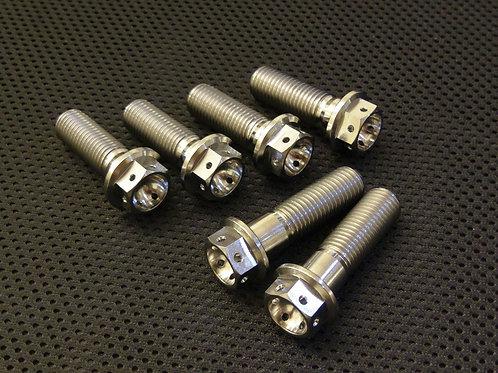 R1 Titanium Drilled Caliper Mounting Bolts 98-01 Full Set