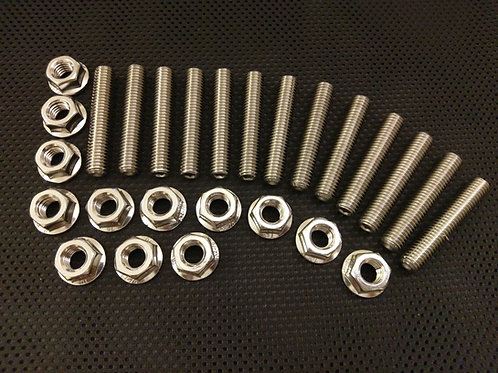 VW Golf MK4 1.8 / 1.8 GTi Stainless Exhaust Studs and Flange Nuts