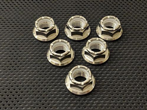R1 Titanium Nyloc Rear Sprocket Nuts