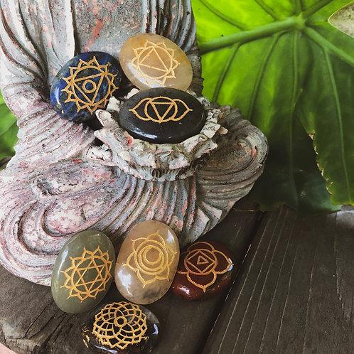 Oval Chakra Stone Set