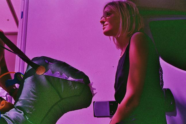 Tête à tête de dinosaure