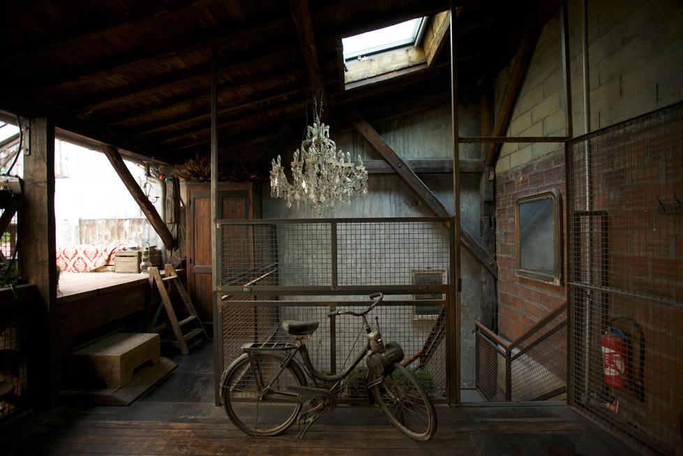 bicyclette et chandelier