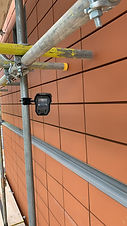 security cameras to protect building site scaffolding