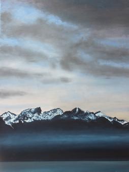 Alpes de Savoie depuis Vevey