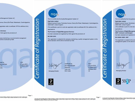 ISO Accreditations for DigiCollab