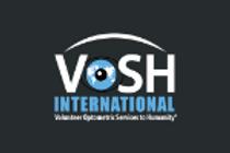 Vosh logo with black background