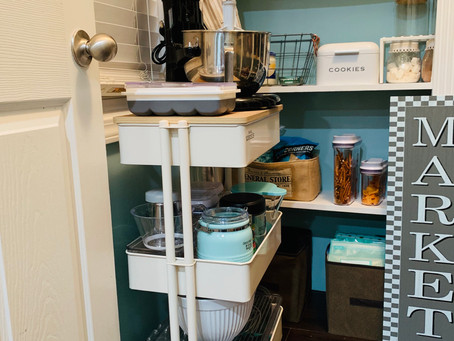It's finished! Newly refreshed baking cart