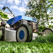 lawnmower grass cutting devon lawns