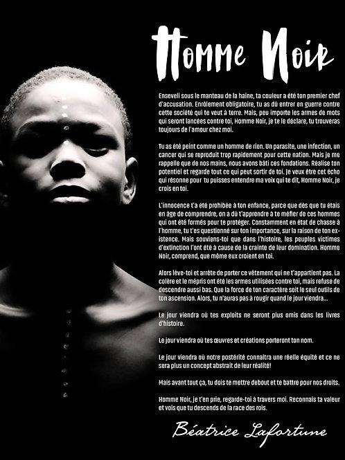 Affiche Homme Noir