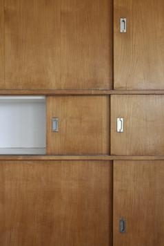 Art Deco sliding cupboard