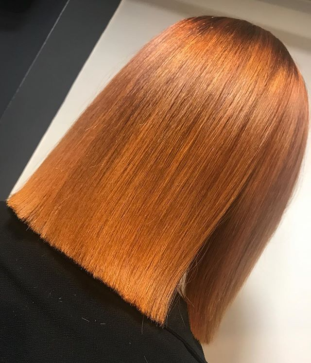 Blunt lines and bright colours 🔥using _lorealpro