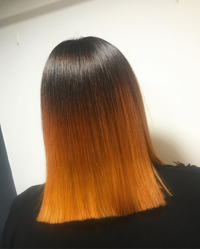 Dark to Copper blend using _lorealprouk 🖤🔶 for _Abbie_thalia -_-_#copperhair #autumnhair #lorealpr
