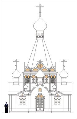Эскиз храма. Лазоревское, Сочи