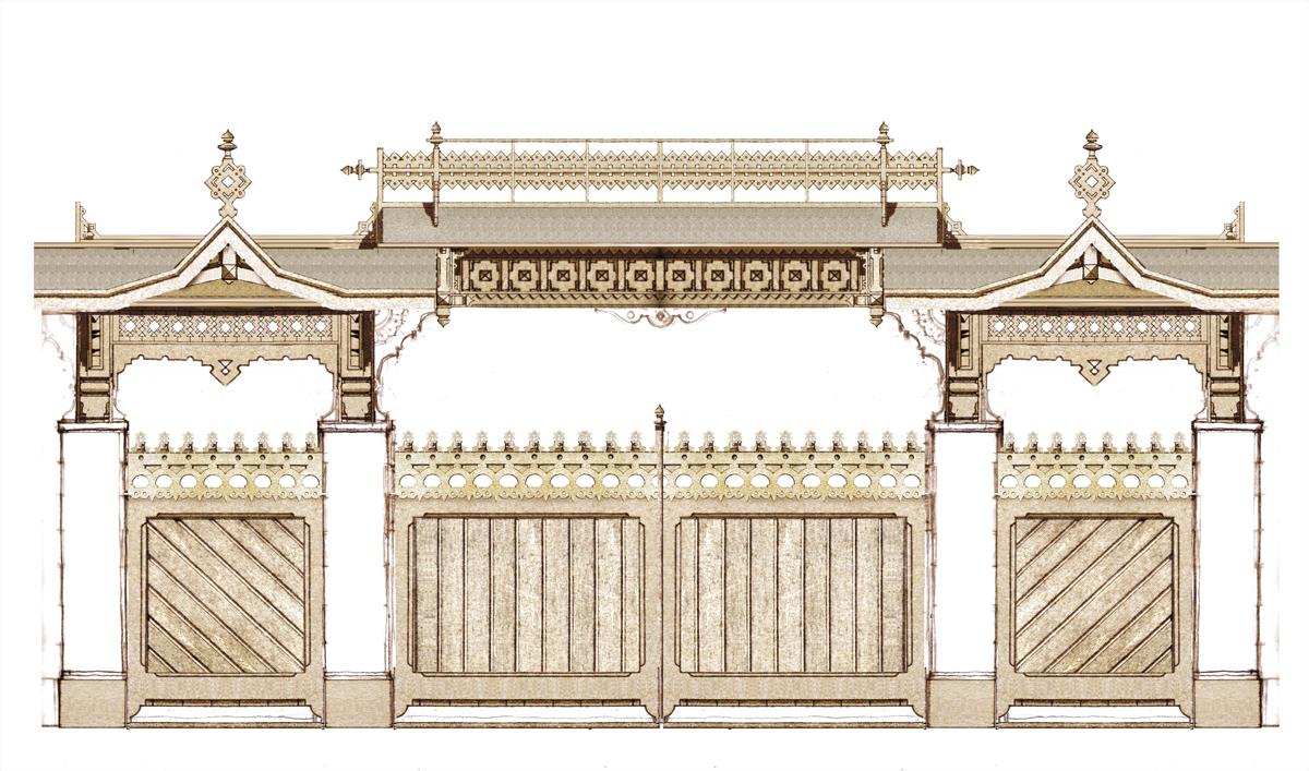 19. Эскиз ворот. Углич