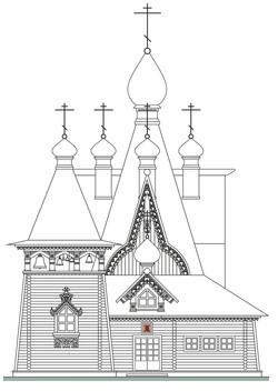 23. Эскиз храма. Озерск