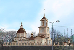 76. Эскиз реставрации храма. Рязань
